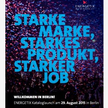 Die Geschäftsleitung von ENERGETIX Bingen lädt ein zum Kataloglaunch 2015